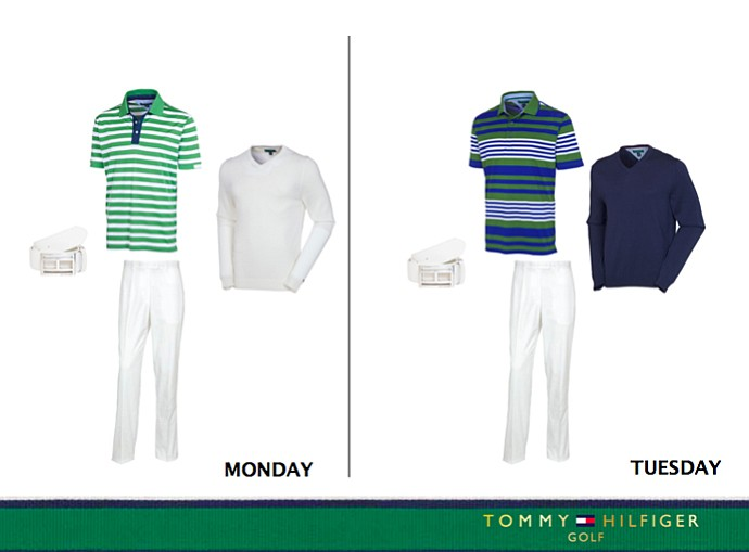 Keegan Bradley's Monday and Tuesday outfit at the 2013 Open championship by Tommy Hilfiger Golf