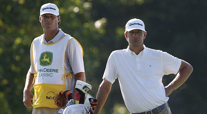 Lucas Glover, right, during the second round of the John Deere Classic.