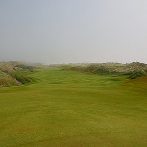 A look back at the fourth hole from the green at Trump Scotland.