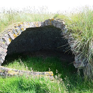 A shelter for salmon fisherman at Trump Scotland.
