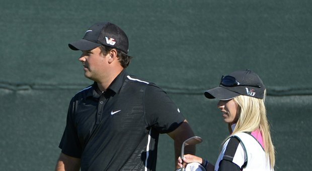 Patrick Reed and his caddie, wife Justine Reed, during the 2013 Arnold Palmer Invitational.
