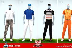 Rickie Fowler's apparel for the 2013 Open Championship at Muirfield.