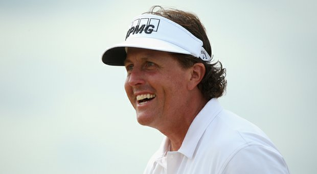Phil Mickelson during the third round of the Scottish Open.