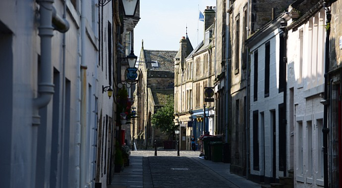 College Street, a typical back street in St. Andrews.