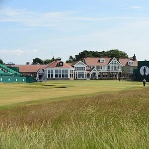 The 18th hole at Muirfield ahead of this week's Open Championship.