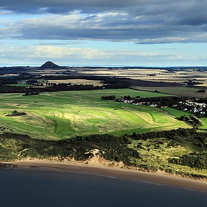 An aerial view the course at The Honourable Company of Edinburgh Golfers Muirfield, the venue for the 2013 Open Championship.