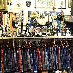 A kilt store in St. Andrews.