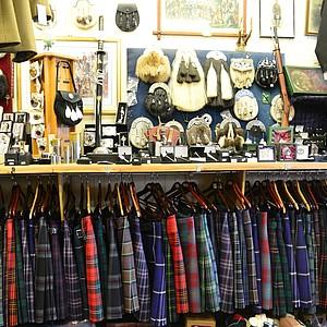 A kilt store in St. Andrews.