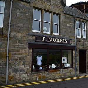 Tom Morris' workshop stood on this spot and was just across the street from the 18th green at St. Andrews.