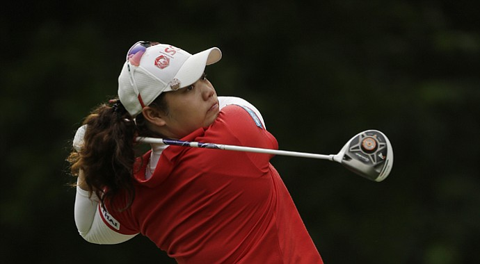 Ariya Jutanugarn during the LPGA's 2013 Mobile Bay LPGA Classic in Alabama.