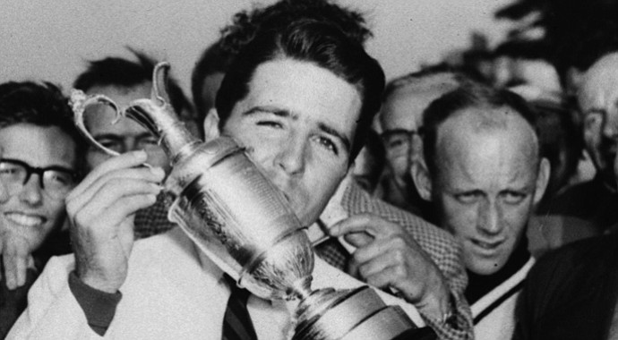 Gary Player after winning the British Open at Muirfield in 1959.