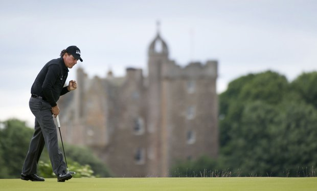 Phil Mickelson during the 2013 Scottish Open at Castle Stuart in Gullane, Scotland.