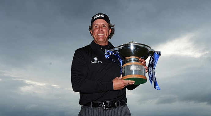 Phil Mickelson may have had a tight grip on the Scottish Open trophy here, but he also dropped the hardware following his thrilling victory in Scotland.
