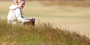 PHOTOS: Lindsey Vonn, Tiger Woods at Muirfield