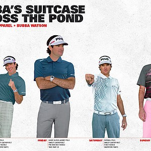 Bubba Watson's apparel for the 2013 Open Championship