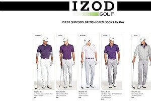 Webb Simpson's apparel for the 2013 Open Championship at Muirfield.