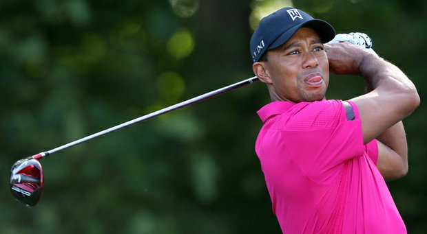 Tiger Woods tested out a new Nike driver on Tuesday at Muirfield.