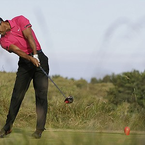 Tiger Woods during a practice round Tuesday ahead of the Open Championship at Muirfield.