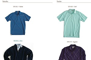 Harris English's scripted apparel at the 2013 Open Championship.
