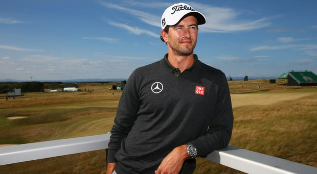 Adam Scott poses for a portrait ahead of the Open Championship at Muirfield.