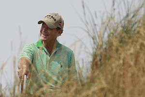 Tom Watson during Wednesday practice for the 2013 British Open at Muirfield.