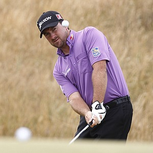 Graeme McDowell during Wednesday practice for the 2013 British Open at Muirfield.