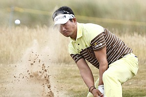 Y.E. Yang during Wednesday practice for the 2013 British Open at Muirfield.