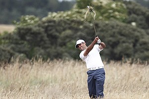 Charl Schwartzel during Wednesday practice for the 2013 British Open at Muirfield.