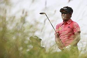 Kiradech Aphibarnrat during Wednesday practice for the 2013 British Open at Muirfield.