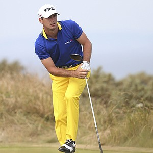 Billy Horschel during the first round of the 2013 Open Championship at Muirfield.