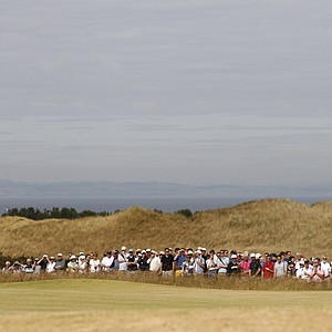 First-round action during the 2013 Open Championship at Muirfield.