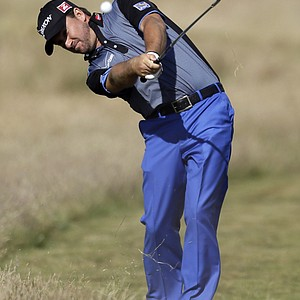 Graeme McDowell during the first round of the 2013 Open Championship at Muirfield.
