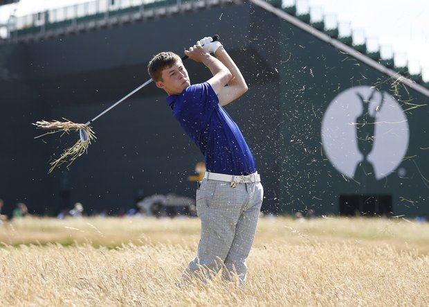 Matt Fitzpatrick during the first round of the 2013 Open Championship at Muirfield.