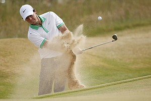 Rory McIlroy during the first round of the 2013 Open Championship at Muirfield.