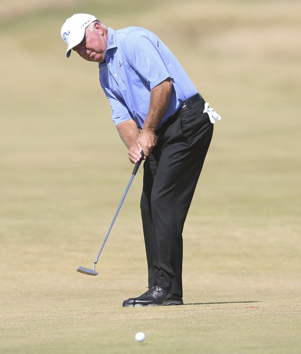 Mark O'Meara during the first round of the 2013 Open Championship at Muirfield.