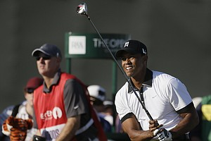 Tiger Woods during the first round of the 2013 Open Championship at Muirfield.