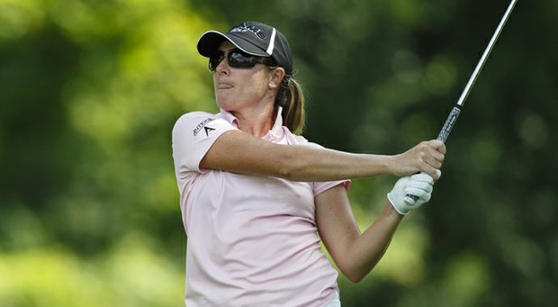 Alison Walshe was the first-round leader at the Marathon Classic near Toledo, Ohio.