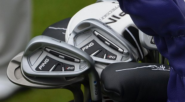 On the verge of winning his first major, Lee Westwood has a bag full of Ping gear.
