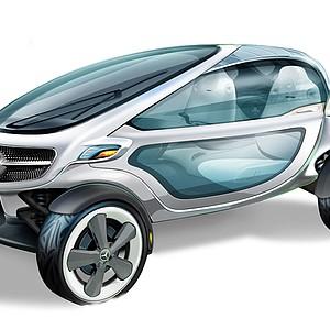 Mercedes-Benz golf cart.