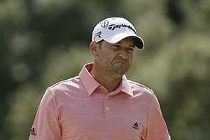 Sergio Garcia during Sunday's final round at the 2013 British Open at Muirfield.