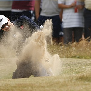 Adam Scott during Sunday's final round at the 2013 British Open at Muirfield.
