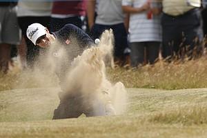 Adam Scott during Sunday's final round at the 2013 British Open at Muirfield.