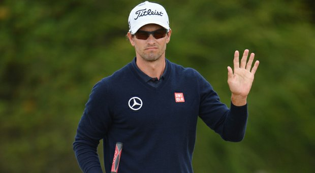 Adam Scott took the lead at the par-4 11th with a birdie.