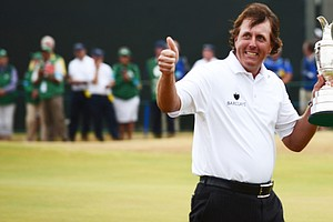 Phil Mickelson after his win Sunday at the 2013 British Open at Muirfield.
