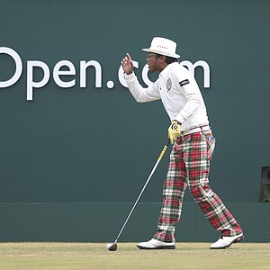 Shingo Katayama during Sunday's final round at the 2013 British Open at Muirfield.