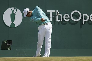 Hideki Matsuyama during Sunday's final round at the 2013 British Open at Muirfield.