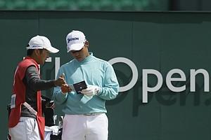 Hideki Matsuyama during Sunday's final round at the 2013 British Open at Muirfield.
