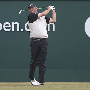 Thomas Bjorn during Sunday's final round at the 2013 British Open at Muirfield.