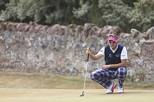 Ian Poulter during Sunday's final round of the 2013 British Open at Muirfield.