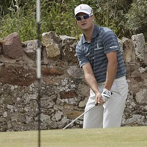Zach Johnson during Sunday's final round at the 2013 British Open at Muirfield.